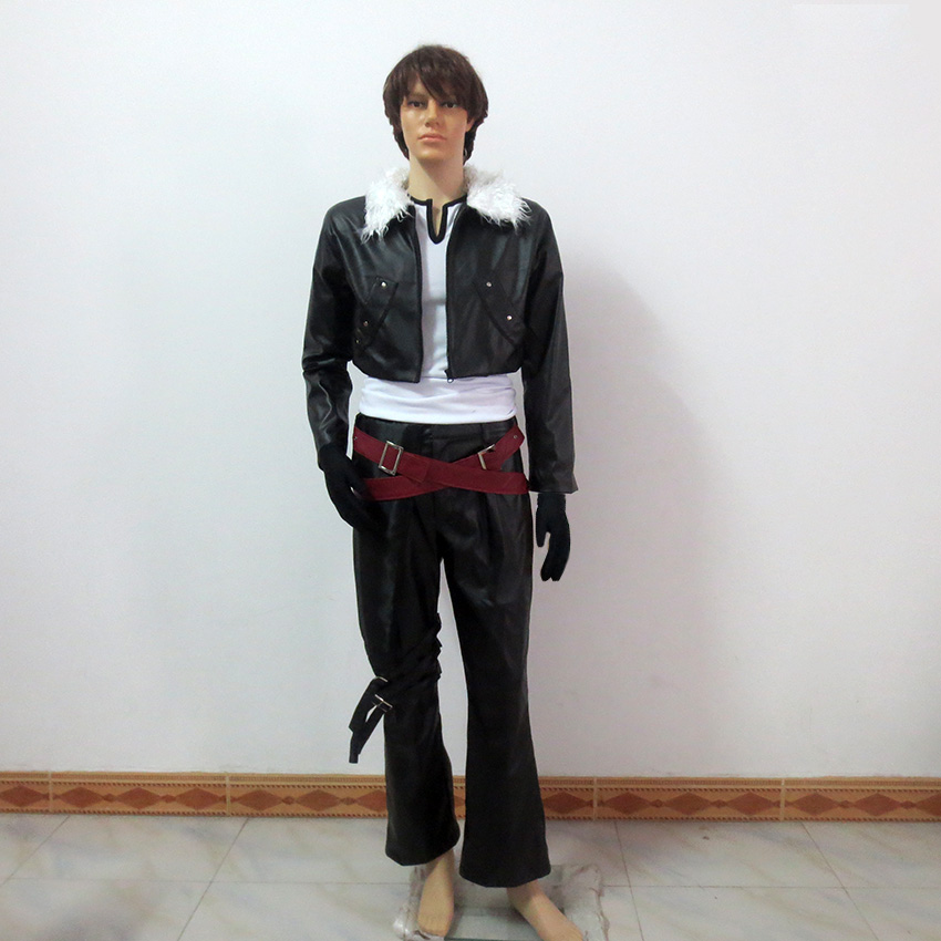 Final Fantasy Squall Leonhart Christmas Party Halloween Uniform Outfit Cosplay Costume Customize Any Size