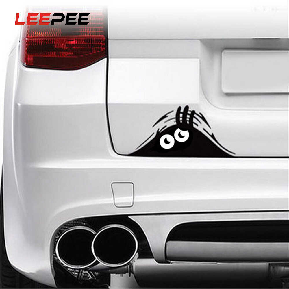 Leepee 1 Stuk Gluren Monster Auto Sticker Vinyl Decal Versieren Sticker Waterdicht Mode Grappige Auto Styling Accessoires