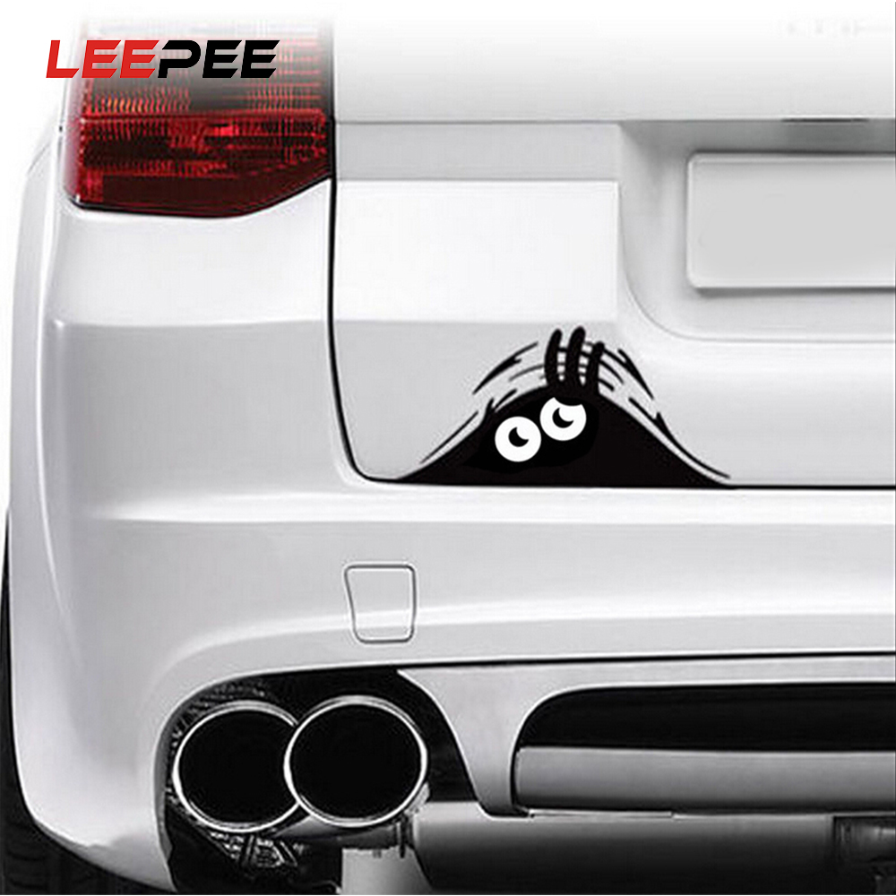 LEEPEE 1 Piece Peeking Monster Car Sticker Vinyl Decal Decorate Sticker Waterproof Fashion Funny Car Styling Accessories