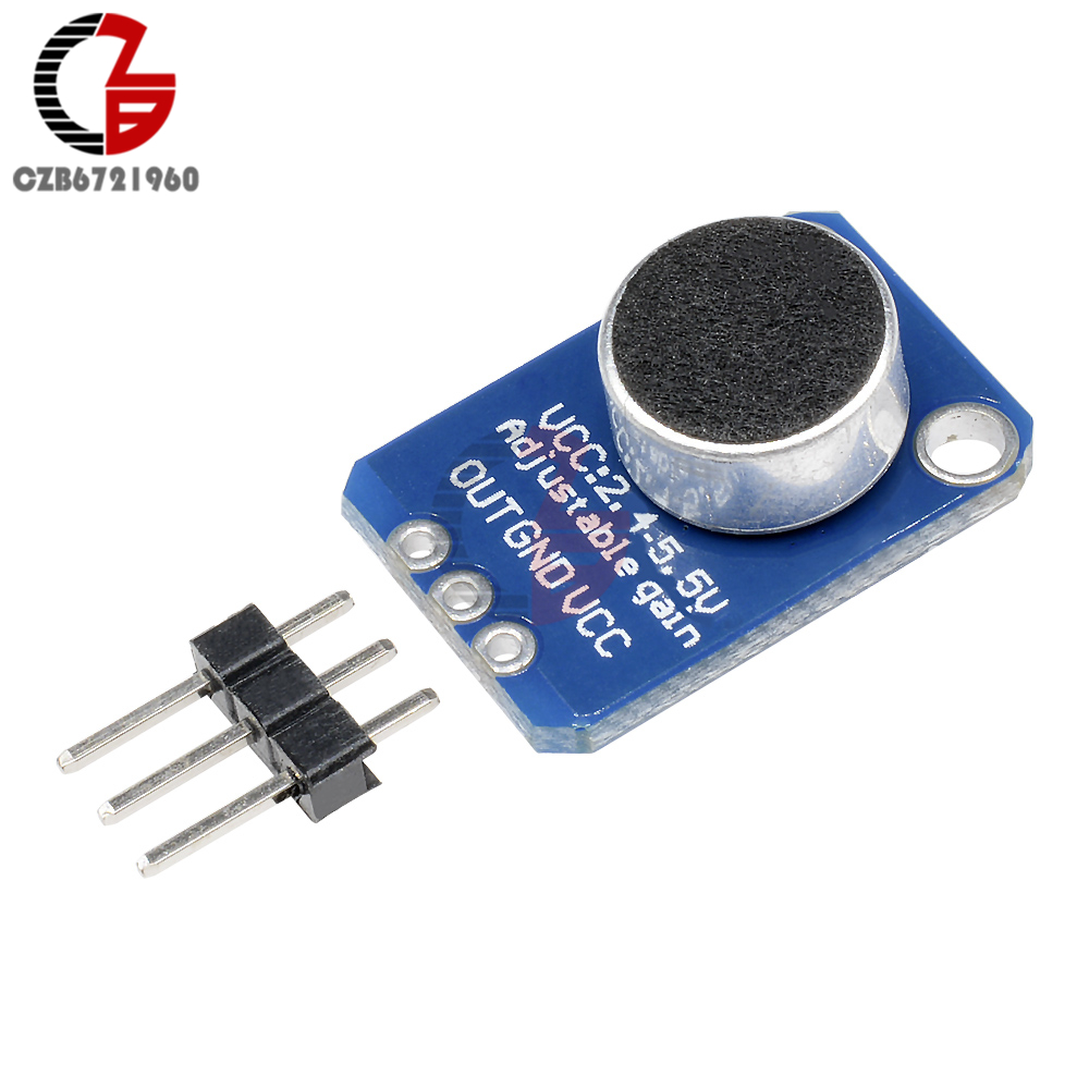 цена на Electret Microphone Amplifier MAX4466 Adjustable Gain Breakout Board Module For Arduino