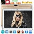 10 дюймов tablet pc 4 ГБ RAM 64 ГБ ROM 8 Ядер andriod 5.1 Octa Core 5MP 1280*800 IPS Дети Подарок СЕРЕДИНЕ 3 Г WCDMA Таблетки 10.1