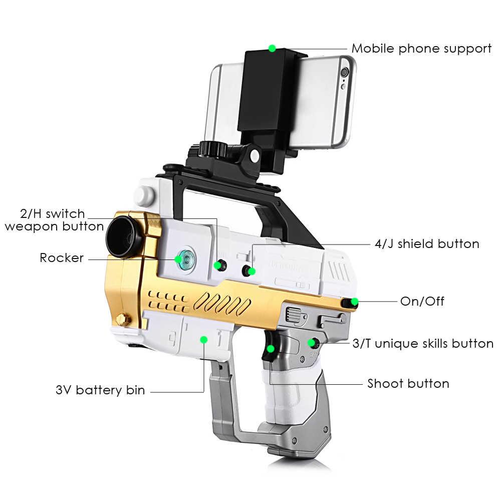 Clearence AR Pistool Bluetooth 4.2 Game Pistool Met Mobiele Telefoon Stand Somatosensorische Shooting Game Spider Grondgebied APP verbinding