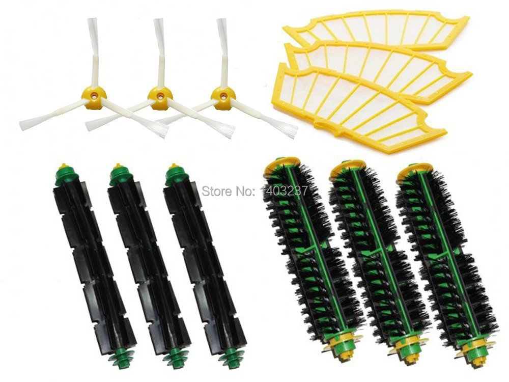 Bristle Brush Flexible Beater Brush Side Brush 3 Armed Filters for iRobot Roomba 500 Series 510 530 535 540 550 560 570 580 610 ntnt free post new 2 x flexible beater brush for irobot roomba 500 series 550 560 570 580 510 530