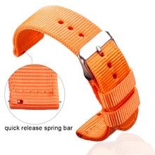 HENGRC 9 Colors Nato Watchband Nylon Canvas Strap 18 20 22 24mm Women Men Replacement Band Watch Accessories Bracelet