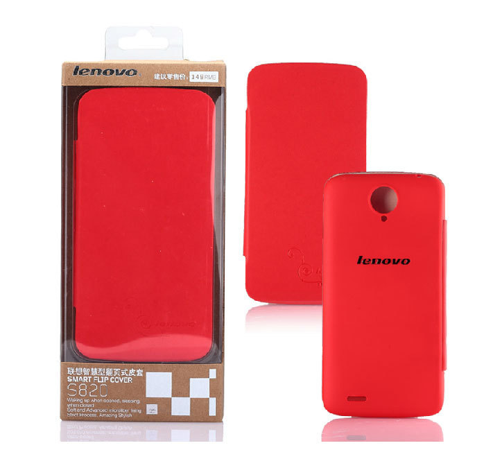 100% Original Lenovo S820 Leather Case Gift Screen Protector Stock - Mobile Phone Accessories Home store