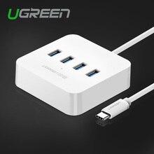 Ugreen usb тип c 4 порта otg концентратор со светодиодным индикатором usb-c splitter usb 3.0 женский для macbook xiaomi4c le телефон oneplus