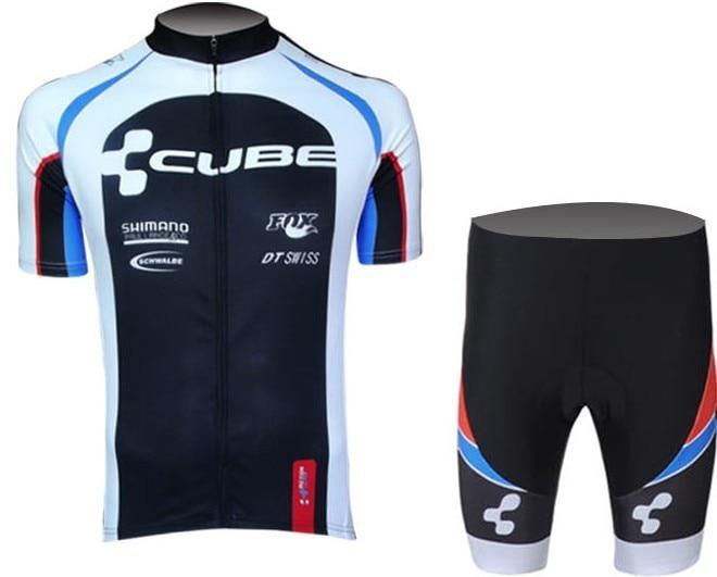 Prix pour 2013 new! Cube manches courtes maillot porter des vêtements vélo / / jersey équitation + pantalons courts métrages