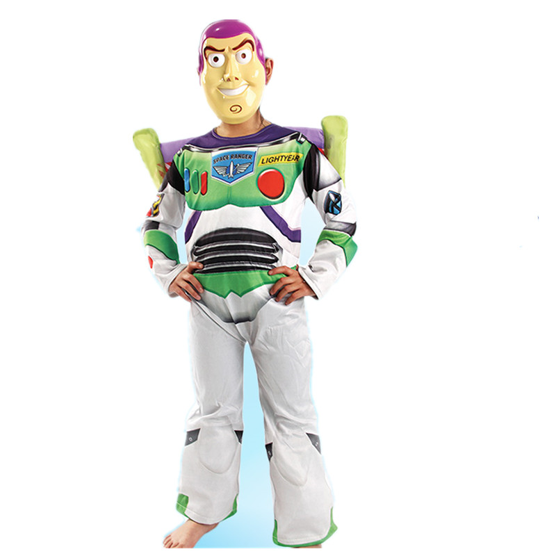 high quality toy story buzz lightyear costume halloween costume for party cosplay costume carnival dress for kids with wig - Halloween Stories Kids