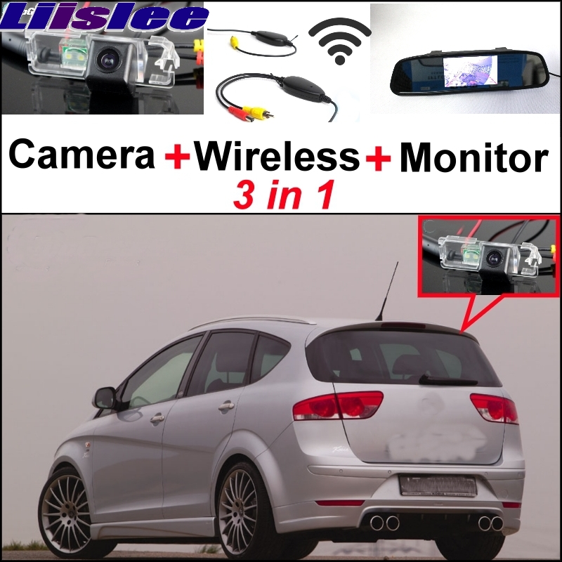 Liislee Special Rear View Wifi Camera + Wireless Receiver + Mirror Monitor Back Parking System For SEAT Altea XL Stationwagon liislee special wifi camera wireless receiver mirror monitor parking system for porsche 996 997 991 carrera 911 turbo gt2 gt3