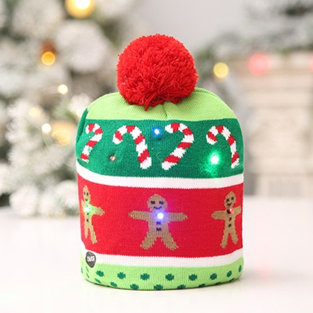 Ugly Christmas Tree.Us 1 99 Aliexpress Com Buy Led Christmas Beanie Ugly Christmas Sweater Christmas Tree Beanie Light Up Knitted Hat For Children Adult Christmas