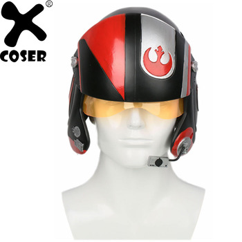 XCOSER Star Wars Poe Dameron Pilot Helmet X-wings Full Head Mask Racing Helmet Movie Cosplay Props Accessories Helmets For Men