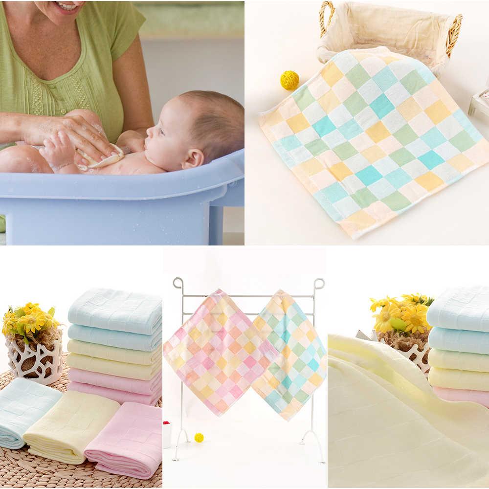 26 см x 26 см Мягкое хлопковое детское банное полотенце для кормления, салфетка с квадратным лицом, маленькое полотенце однотонного цвета для новорожденных детей, полотенце s