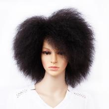 Pelucas Afro rizadas de Rizado corto natural para mujer, peluca corta de 6 pulgadas, Color negro, marrón, rojo, 90g