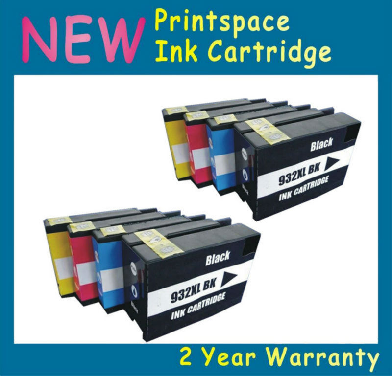 8x NON-OEM  Ink Cartridges With Chips Compatible For HP 932XL HP932XL HP 933XL HP933XL HP Officejet Pro 6100 6600 6700 7110 7610 4 pack compatible 932 xl 933 932xl 933xl inkjet ink cartridge for hp hp932 hp932xl officejet 6100 6600 6700 7110 7610 printer