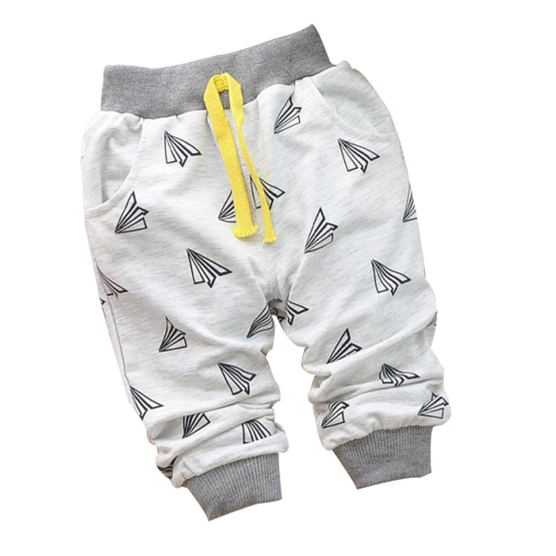 2016 new Spring Hot sale 0-2 years cartoon 4 colors cotton baby pants 7-24 month baby boy pants children girls harem pants(China)