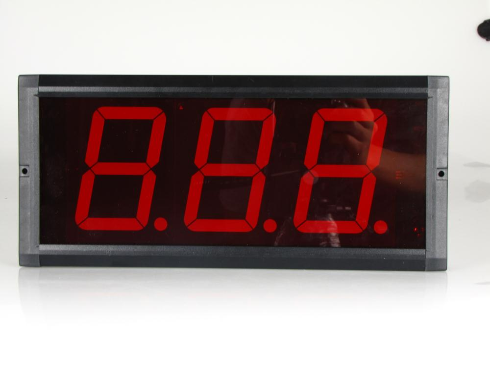 Fedex Free Shipping 4 inch 3 digit led digital counter christmas days countdown clock in Wall Clocks from Home Garden