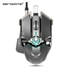 ZERODATE 4000 DPI USB Filaire Concurrentiel Gaming Mouse 10 Programmable Boutons Mécanique Macro Définition Programmation Jeu Souris