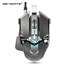 ZERODATE 4000 DPI USB Wired Competitive Gaming Mouse 10Programmable Buttons Mechanical Macro Definition Programming Game Mice