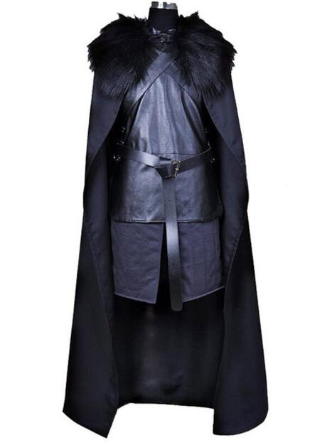 American TV Series Game of Thrones Cosplay Costume Jon Snow Cosplay Knight Role Play Costume Halloween For Men
