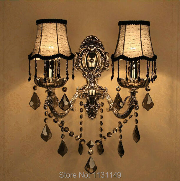 New Led wall light double head light fixtures k9 crystal arandelas ...
