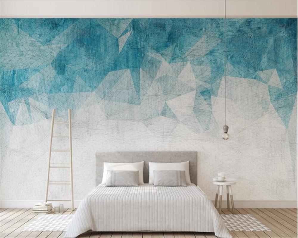 Beibehang Custom wallpaper Nordic minimalism abstract lines geometric TV background wall 3d wallpaper papier peint mural 3d geometric metallic wallpaper 3d abstract