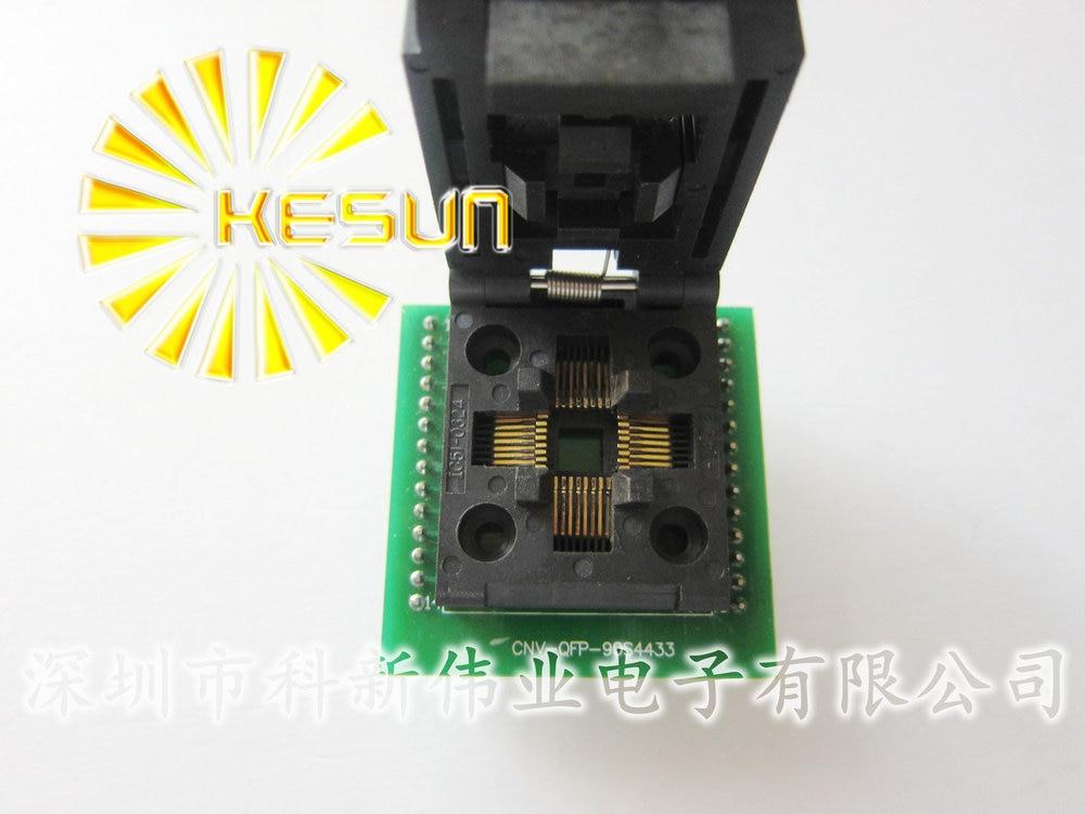 FREE SHIPPING CHIP PROGRAMMER SOCKET TQFP32 QFP32 / LQFP32 TO DIP28 adapter socket support ATMEGA8 series sop28 to dip28 programmer module adapter socket yellow