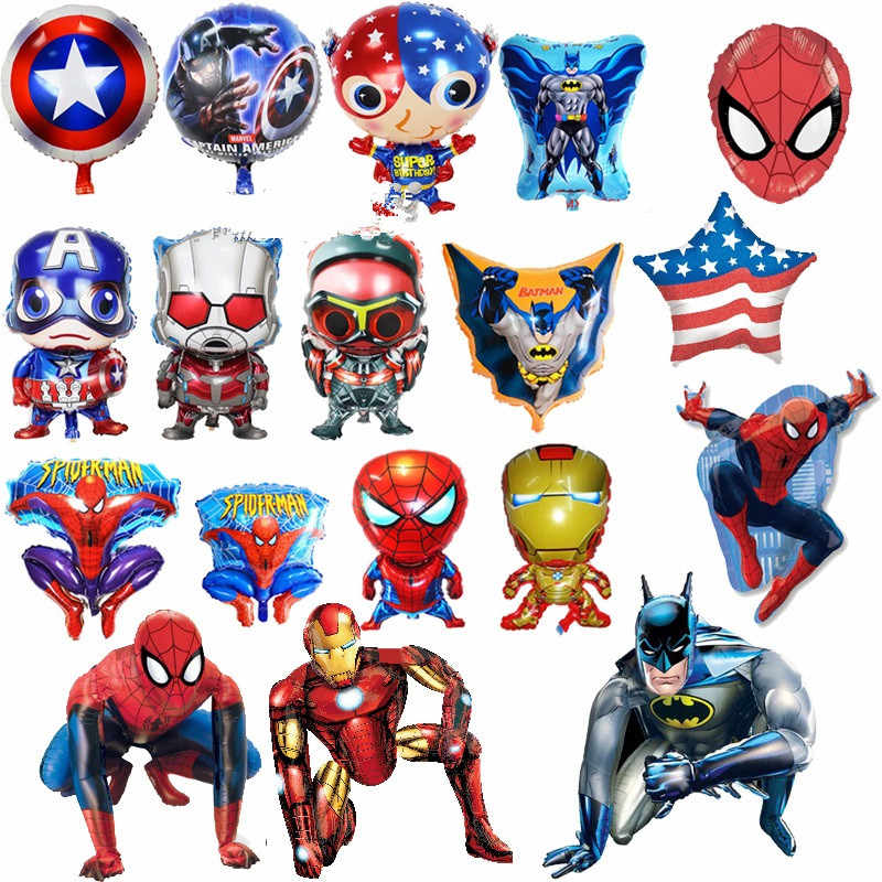 batman spiderman iron man hulk balloon party supplies superhero balloons superman baby super big hero happy birthday ballons toy