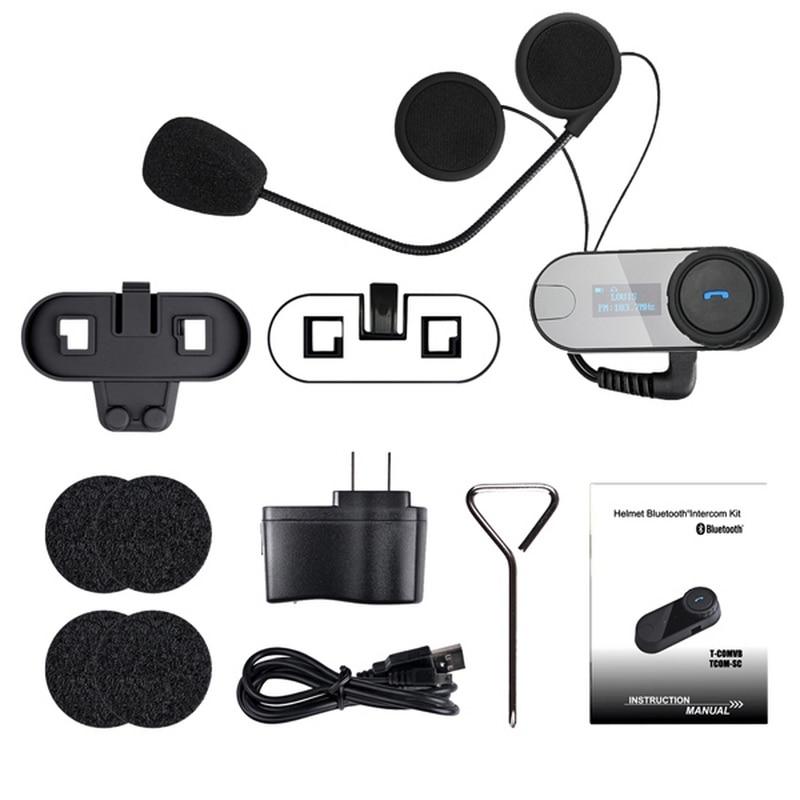 """Nešiojami motociklų šalmų ausinės """"Bluetooth"""" motociklų - Motociklų priedai ir dalys - Nuotrauka 6"""