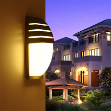 Thrisdar 6W 12W Waterproof Garden Porch Wall Light Outdoor Hotel Aisle Corridor Lamp Aluminum Villa Fence Balcony
