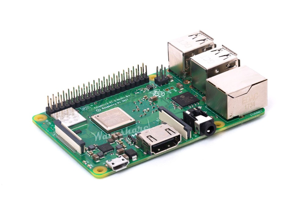 Raspberry Pi 3 Model B+ RPi3 B+ the Third Generation Pi 1.4GHz CPU 64-bit quad-core ARM 1GB RAM with wireless LAN Bluetooth 4.2 raspberry pi 3 model b 1gb ram quad core 1 2ghz 64bit cpu wifi