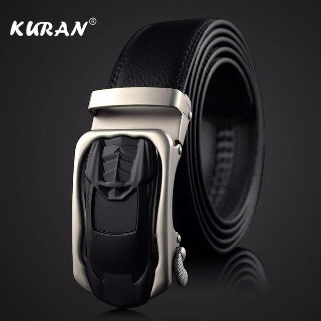 84b6e3954d [KURAN] Nova Marca designer mens cintos luxo cintos de couro reais para  homens fivela