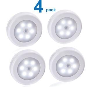 Image 1 - Luz noturna com bateria de led pir, sensor de movimento, magnético, sem fio, para armário, escada, para parede, para iluminação do corredor