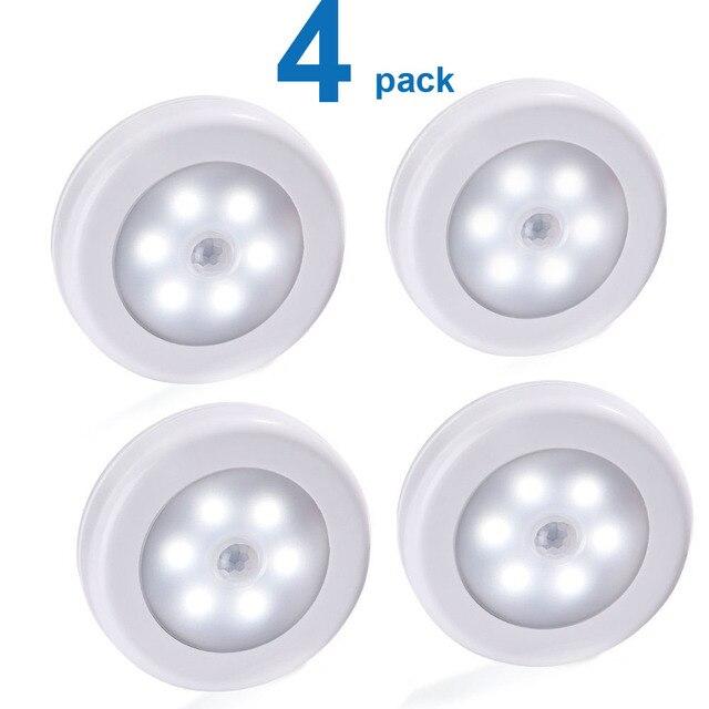 Luz noturna com bateria de led pir, sensor de movimento, magnético, sem fio, para armário, escada, para parede, para iluminação do corredor