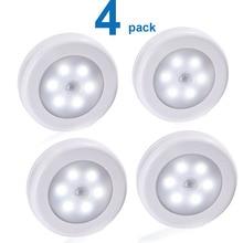 4PCS Wireless Motion Sensor Wall Light Lamp Battery Powered Wall Mounted Night Lights Indoor LED Wall Closet Stair Room Light