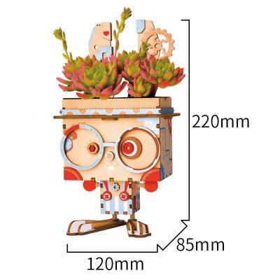 Новая идея подарка мультяшный горшок серии 3D паззлы деревянные DIY головоломки дизайн замочки украшение комнаты милый подарок обучающий инструмент - Цвет: Зеленый