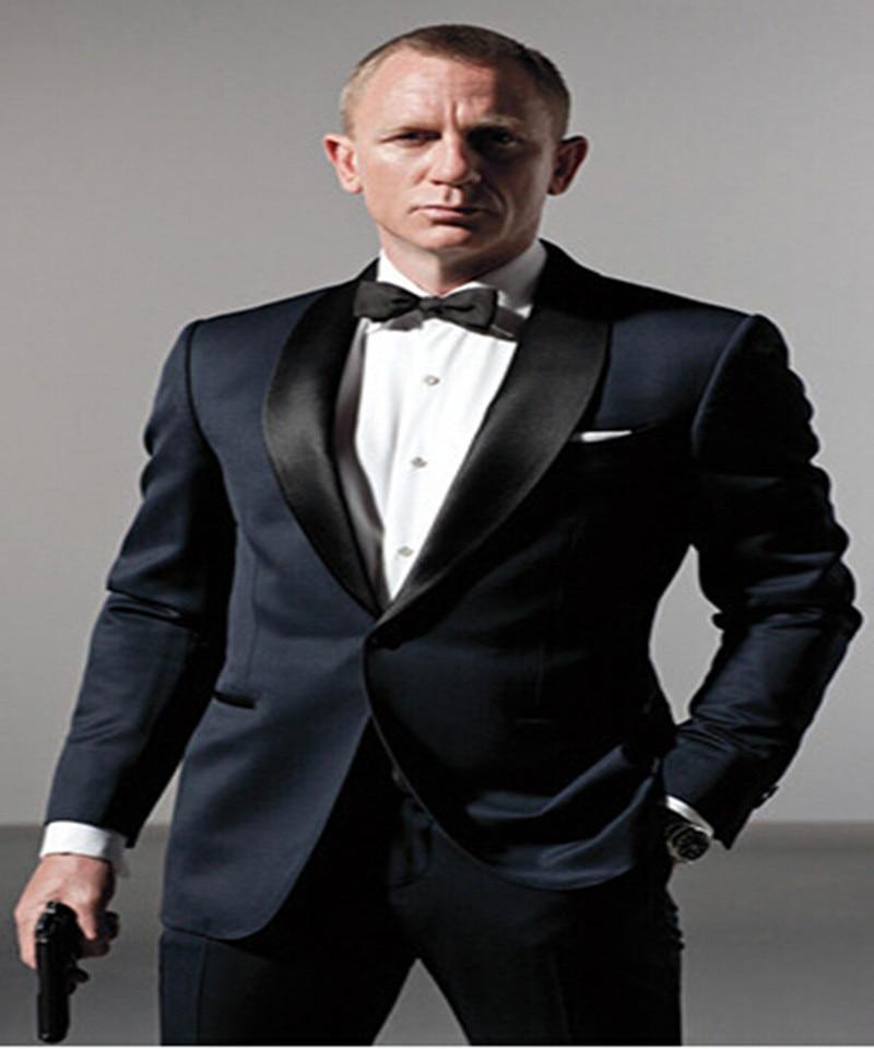 Blue Blazer Masculino Slim Fit Mens Suits Wedding Groom