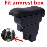Arm Rest Rotatable For Honda Fit Jazz 2002 2008 Hatchback Center Centre Console Storage Box Armrest 2003 2004 2005 2006 2007