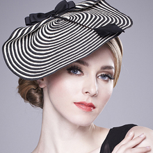 Fascinators For Women Elegant Fedora Hats Summer Autumn Wedding Woman Hat Vintage Church Black Net Yarn Cap Girls