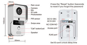Image 5 - 720P אלחוטי WiFi וידאו פעמון דלת טלפון אינטרקום מצלמה PIR זיהוי תנועה מעורר מרחוק נעילה עם מקורה פעמון