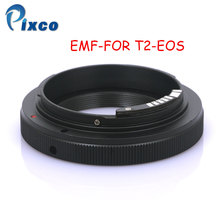 PIXCO EMF AF Confirm Mount Adapter Ring For T-2 T2 T Lens To Canon EOS EF Camera pixco lens adapter ring suit for canon ef e os to sony nex a5100 a6000 a5000 a3000 5t 3n 6 5r f3 7 5n 5c c3 3 5