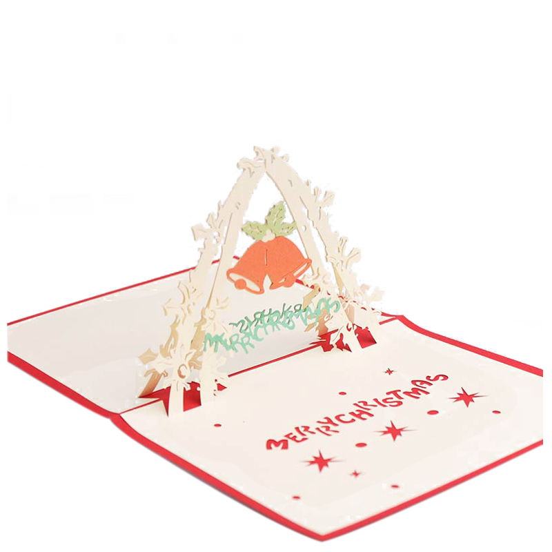 Perfect-Door Bells 3D Invitation Cards Merry Christmas Greeting Cards Christmas Events DIY Decoration Gifts For Guests
