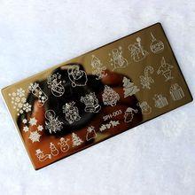 ליל כל הקדושים חג המולד נייל Stamping צלחות נייל חותמת פולני נייל תמונת אמנות תמונת Konad הדפסת חותמת Stamping מניקור תבנית