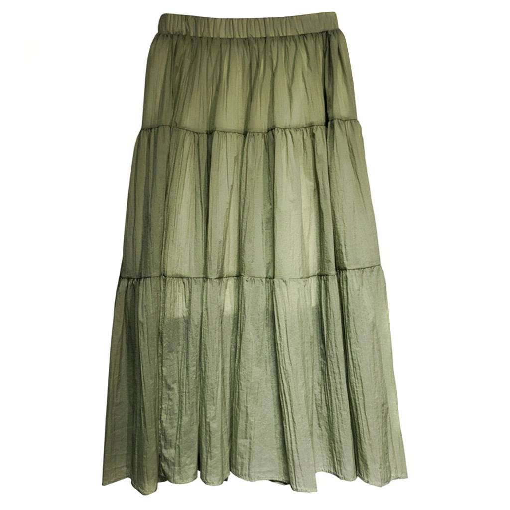 Pencil Skirt Skirts Womens Pleated Skirt Women Summer Fashion Vintage High Waist Skirts Female Elegant  Skirt Jupe Femme