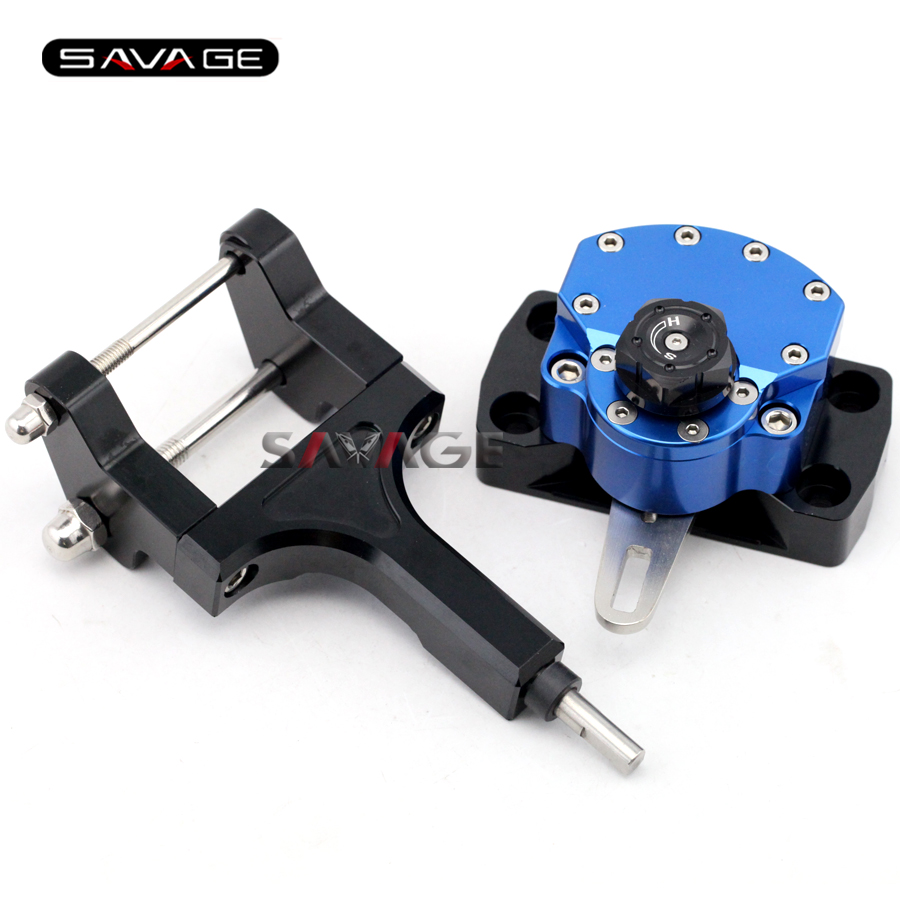For HONDA MSX 125 Grom/Monkey 2013 2014 2015 Blue Motorcycle Reversed Safety Steering Damper Stabilizer with Mount Bracket куплю honda snr 125 в беларусе