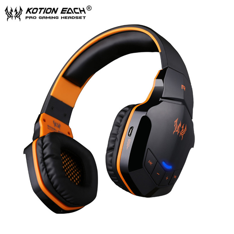 New Version Wireless Bluetooth Stereo Gaming Headphones Headset EACH B3505 With Volume Control Microphone HiFi Music
