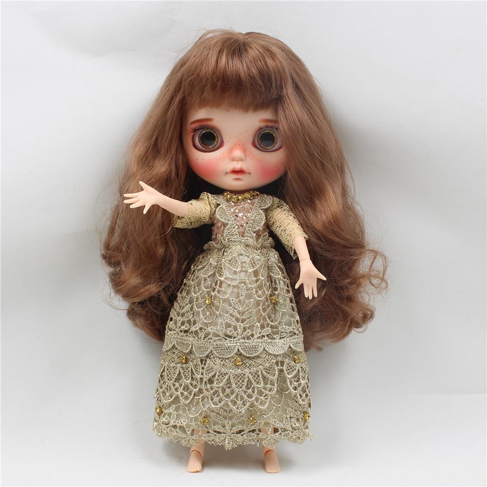 Neo Blythe Doll Golden Noble Dress 2