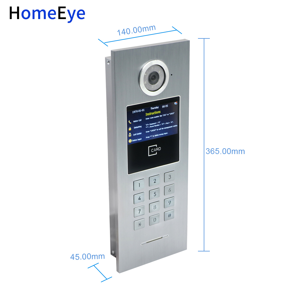 720P WiFi IP Video Intercom Smart Video Door Phone Door Bell Password RFID Card POE Switch iOS Android APP Multi language OSD in Video Intercom from Security Protection