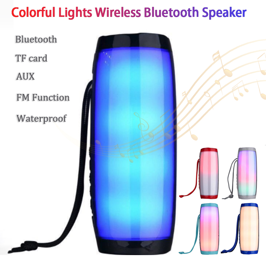 Bluetooth Speaker Portable Column TG157 Wireless Column Waterproof Radio Sound Bar Boom Box FM Radio 1200 MAh in Portable Speakers from Consumer Electronics