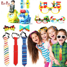 New Digital Watch Necktie Glasses Blocks Baseplate Compatible Legoed Minecraft Technic Classic Bricks Base Plate Toys For Child