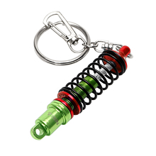 Auto Tuning Parts Keyring Metal Key Chain Car Ornaments Auto Accessories Turbine Damper Keyholder Shock Absorber Keychain